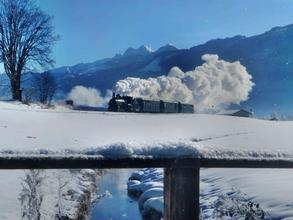 New year's eve steam train ride (c) Pinzgauer Lokalbahn