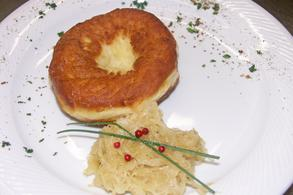 Doughnut with sauerkraut
