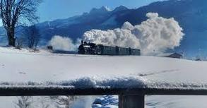 Winter steam train (c) Pinzgauer Lokalbahn